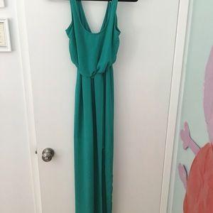 Lush turquoise maxi dress size S